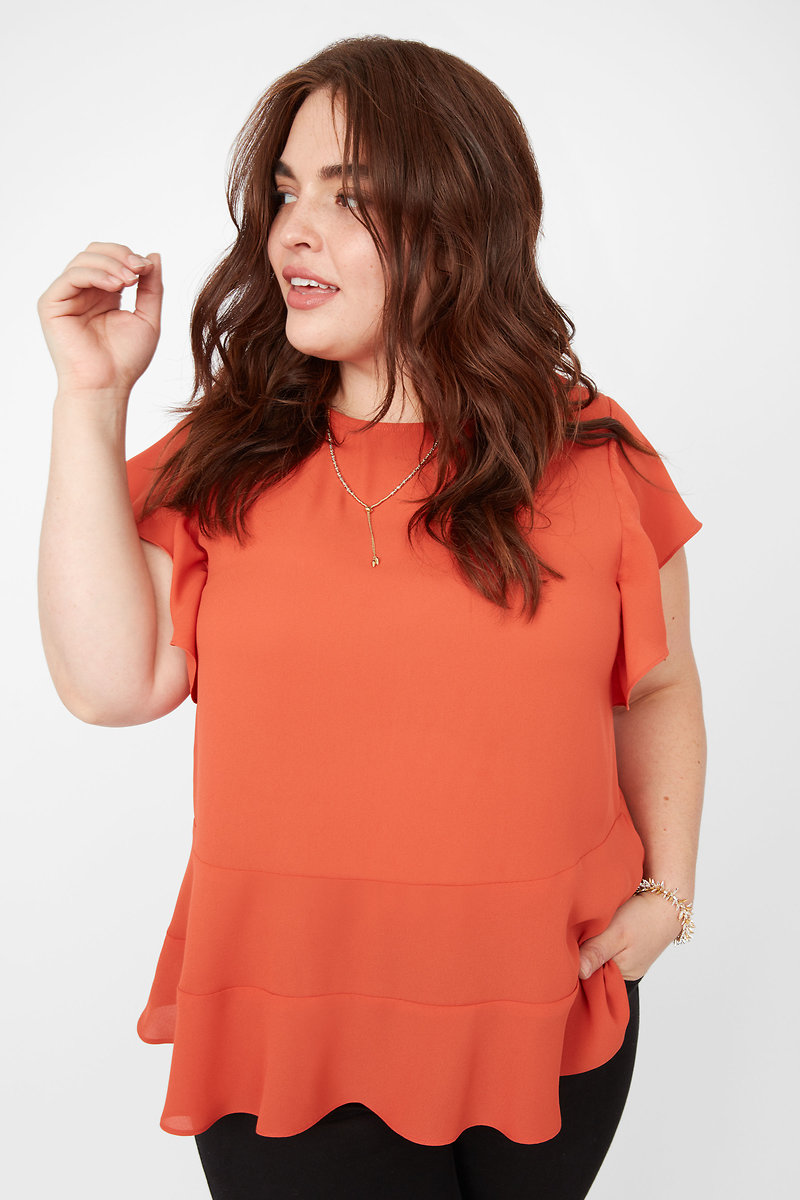 89a01caa02c99 Burnt Orange Blouse - Image Of Blouse and Pocket