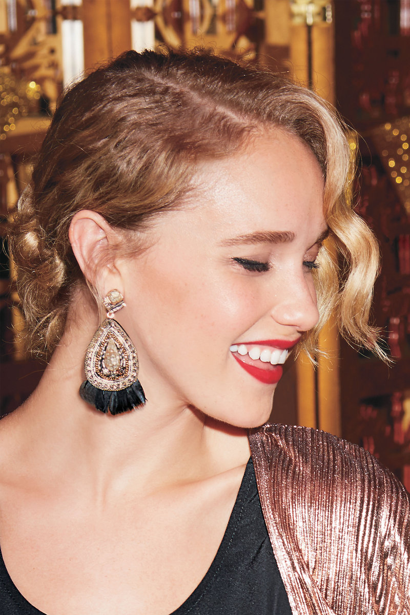 Black feather statement earrings stella dot stella dot constantine feather chandeliers e395h constantine feather chandeliers e395h arubaitofo Image collections