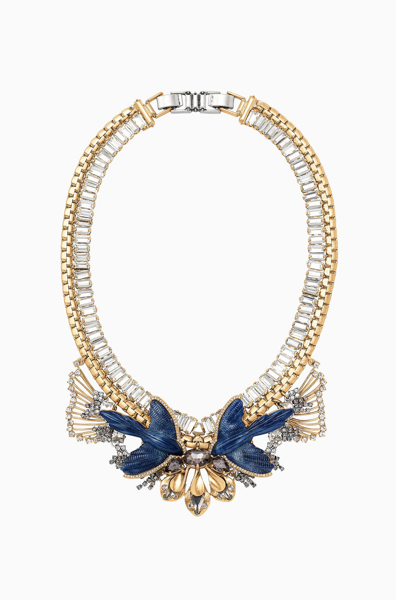 additionelle addition statement en and gemstone elle necklace pearl
