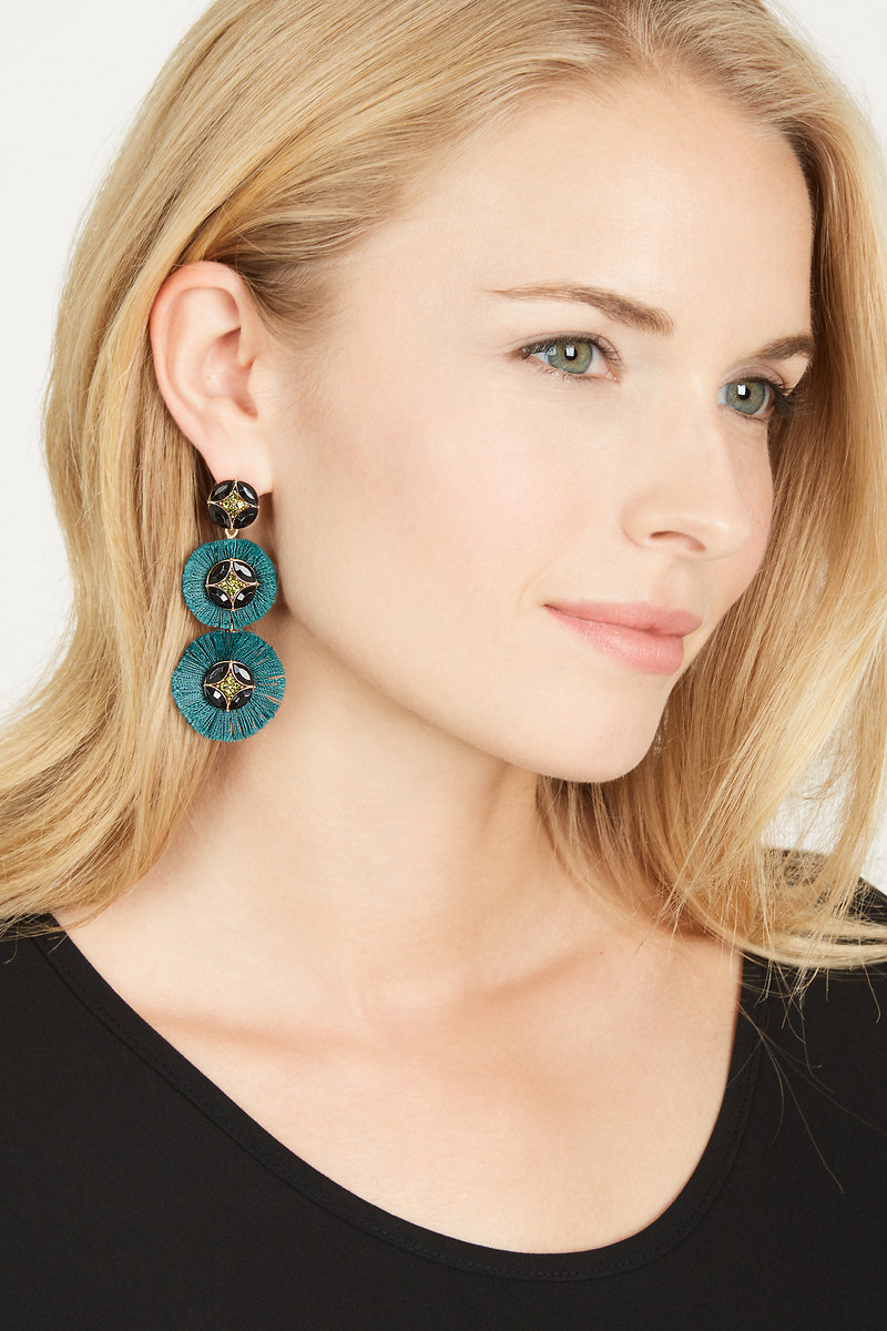 Green fan fringe chandelier earrings stella dot stella dot gemma fan chandeliers forest green e414gr gemma fan chandeliers forest green e414gr arubaitofo Image collections