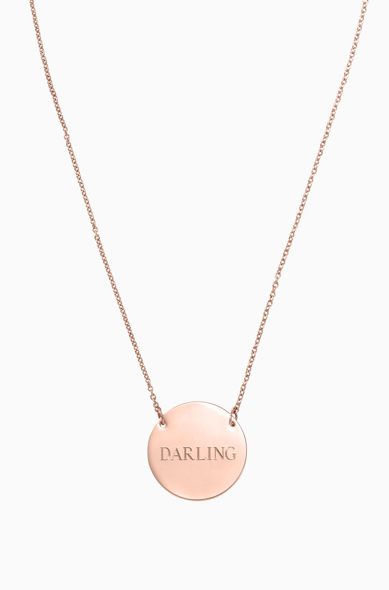 with necklace initial personalized birthstone disc