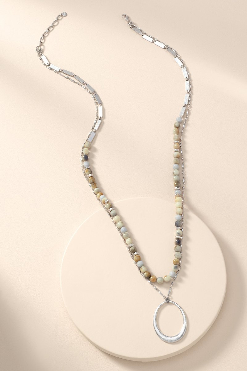 Silver Natia Layered Necklace Stella Dot