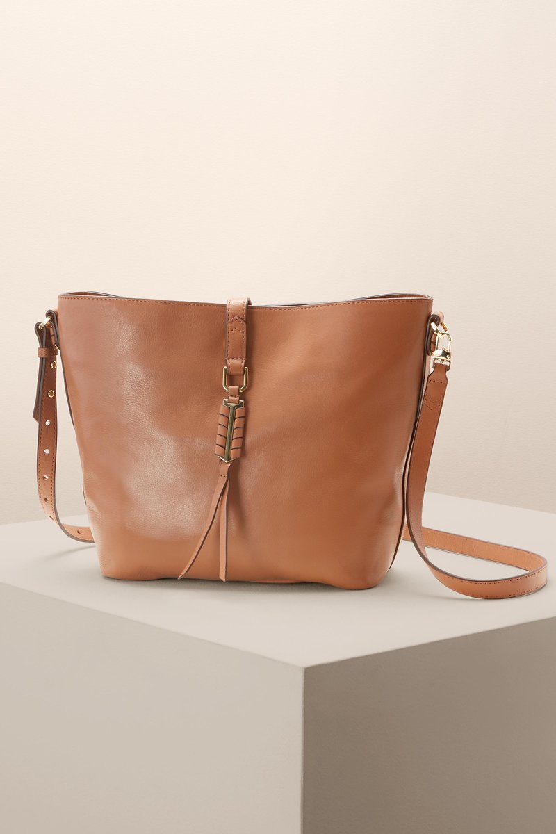 c566348a22 Leather Bucket Bag - The Sunday Bag in Saddle Leather