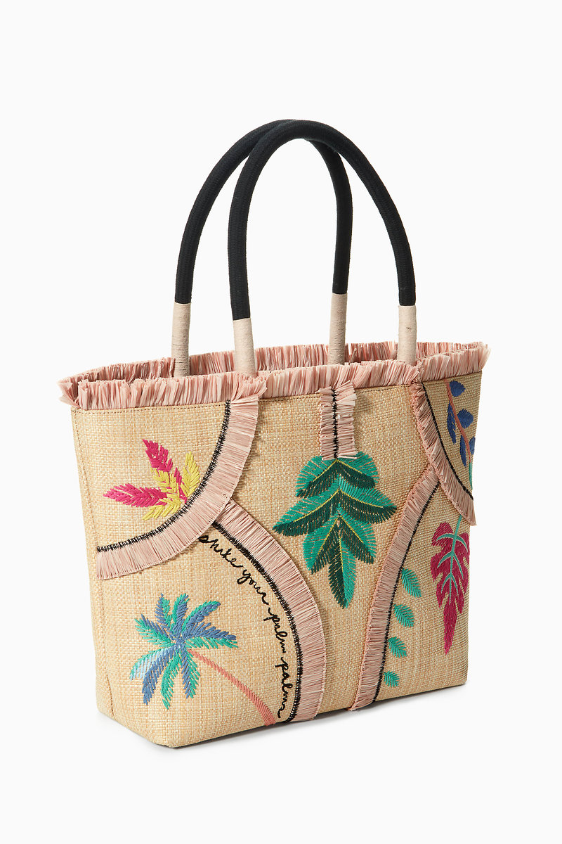 Antibes Tote Embroidered Palm Hb250mlt