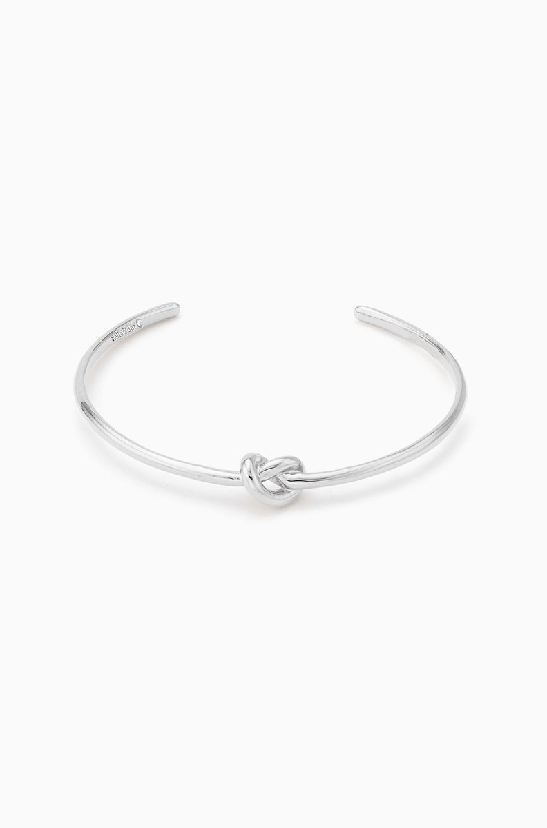 Simple Knot Cuff Silver B386s