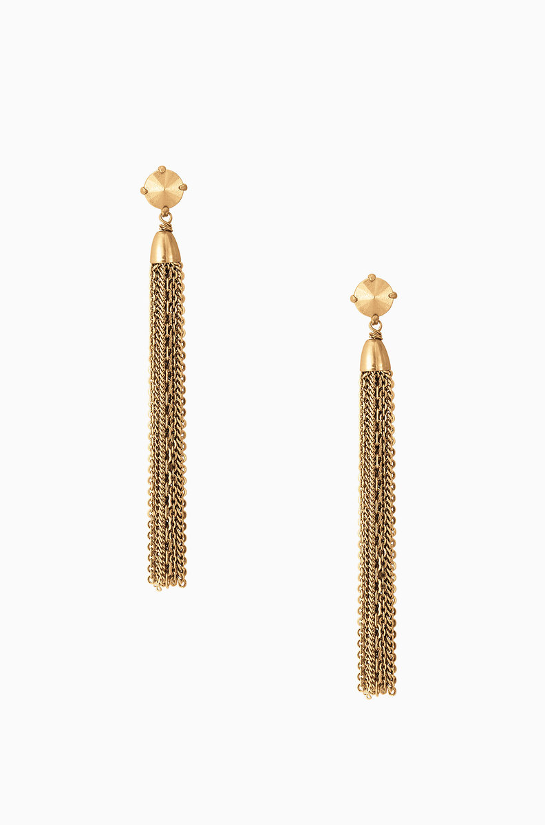 Fringe Tel Earrings Gold E372g
