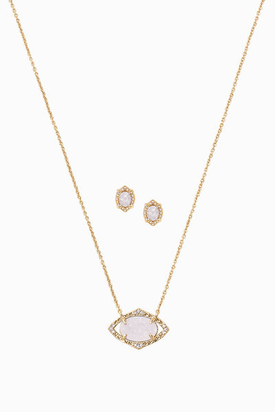 forever necklace with stackable plated crystal light rhodium sapphire swarovskir a birthstone swarovski