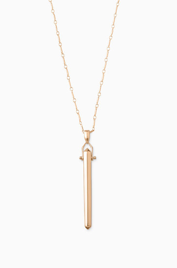 Rose gold long pendant necklace rebel pendant necklace stella dot rebel pendant rose gold n284rg aloadofball Image collections