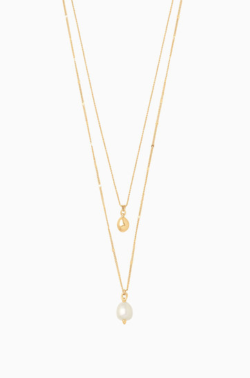 Home stella dot delicate double pearl pendant n891g mozeypictures Gallery