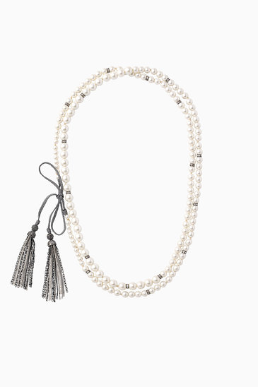 Long tassel and pearl necklace stella dot mara pearl necklace n928s aloadofball Gallery