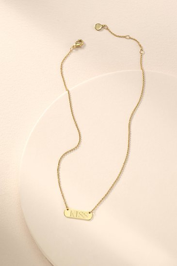 894075e94 Gold Signature Engravable Bar Necklace | Stella and Dot | Stella & Dot