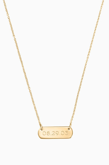 Personalized Gold Pendant Signature personalized gold bar necklace stella dot signature engravable bar necklace gold n426g audiocablefo