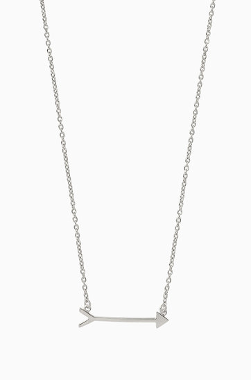 stella sterling dot on p mark the silver arrow necklace