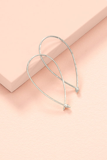 8ddced8a4d234 Hammered Wire Small Hoops - Silver