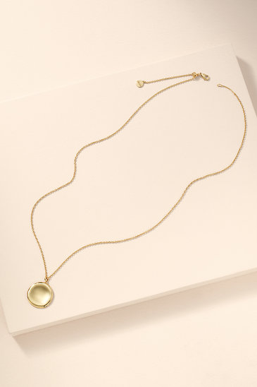 86008380fa30e Amour Disc Pendant - Gold
