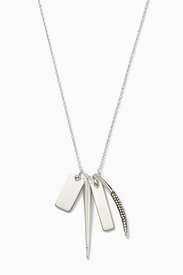 98bb2b8c1ae00 Signature Engravable Charm Necklace - Silver