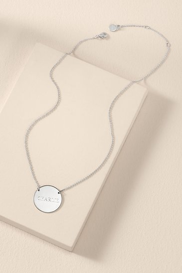 dd5751bab Silver Signature Engravable Disc Necklace | Stella and Dot | Stella ...