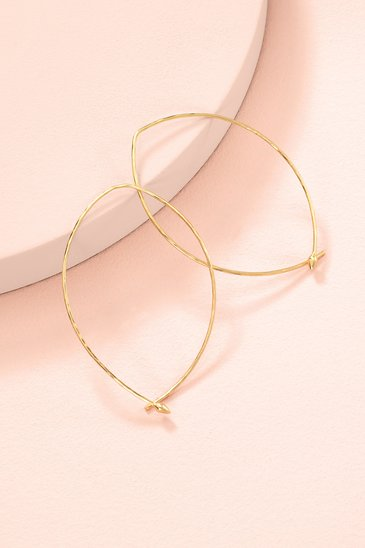 71b6e0699 Gold Hammered Large Wire Hoop Earrings | Stella and Dot | Stella & Dot