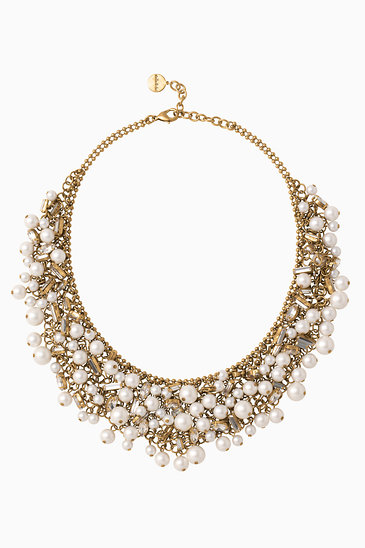 fashions pearl and cato social bib flower necklace occasion l default
