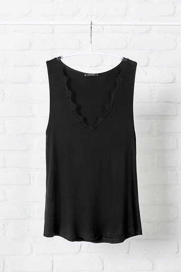 64c9c48d634 Black Lace Trimmed The Always Tank | Stella and Dot | Stella & Dot