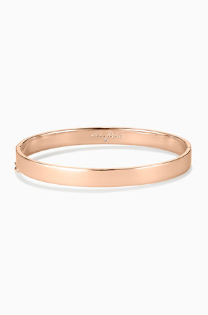 signature engravable bangle rose gold