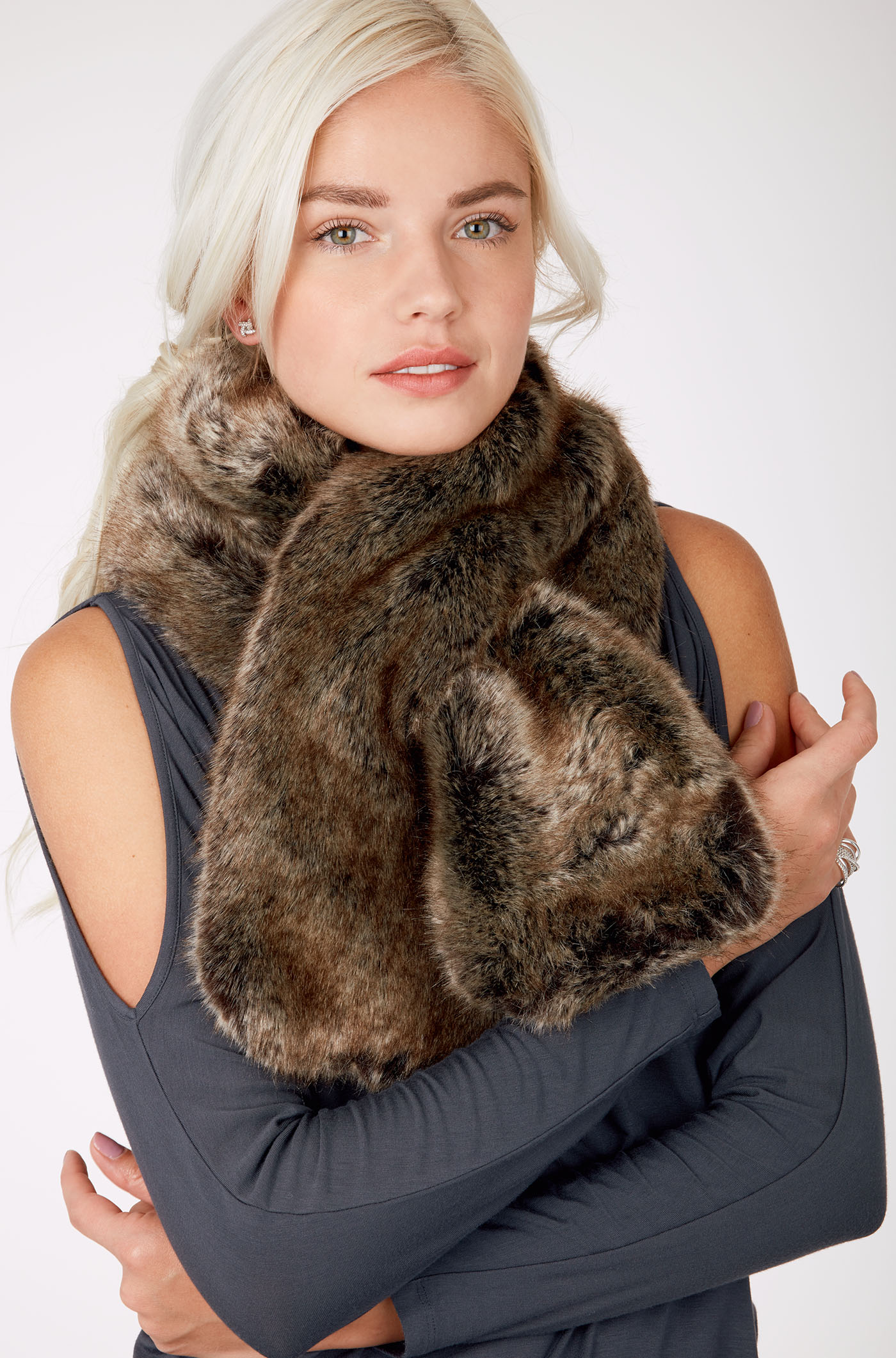 Stella &Dot faux fur wrap.