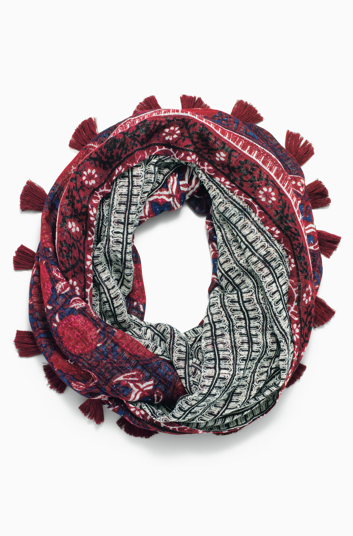 Stella and Dot Reversible infinity scarf with vivid red
