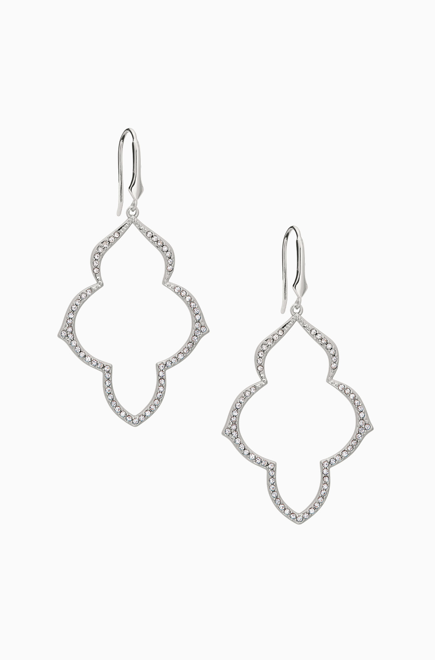 Silver pav chandelier earrings stella dot arubaitofo Image collections