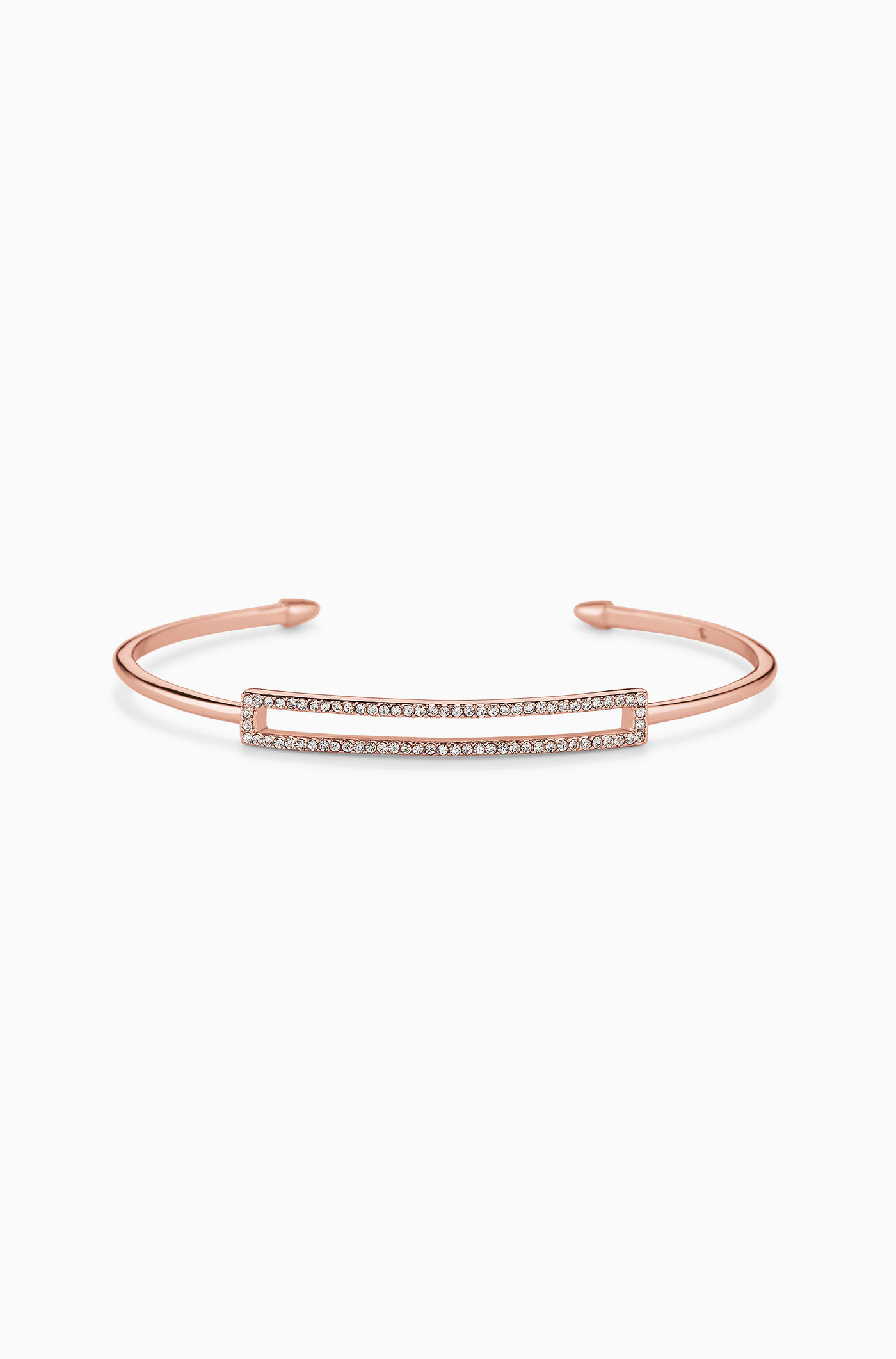 stella dot pave rectangle cuff rose gold
