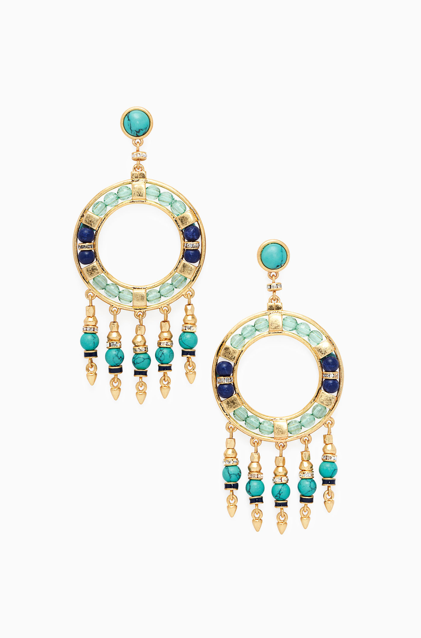 Blue and Green Beaded Chandelier Earrings Stella & Dot