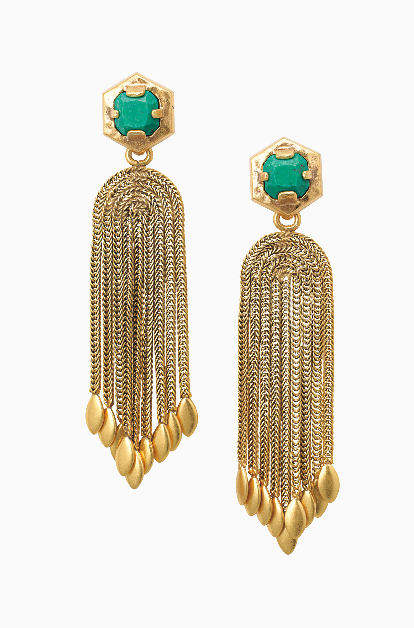 - Vintage Gold Chandelier Earrings - Odeon Chandeliers Stella & Dot