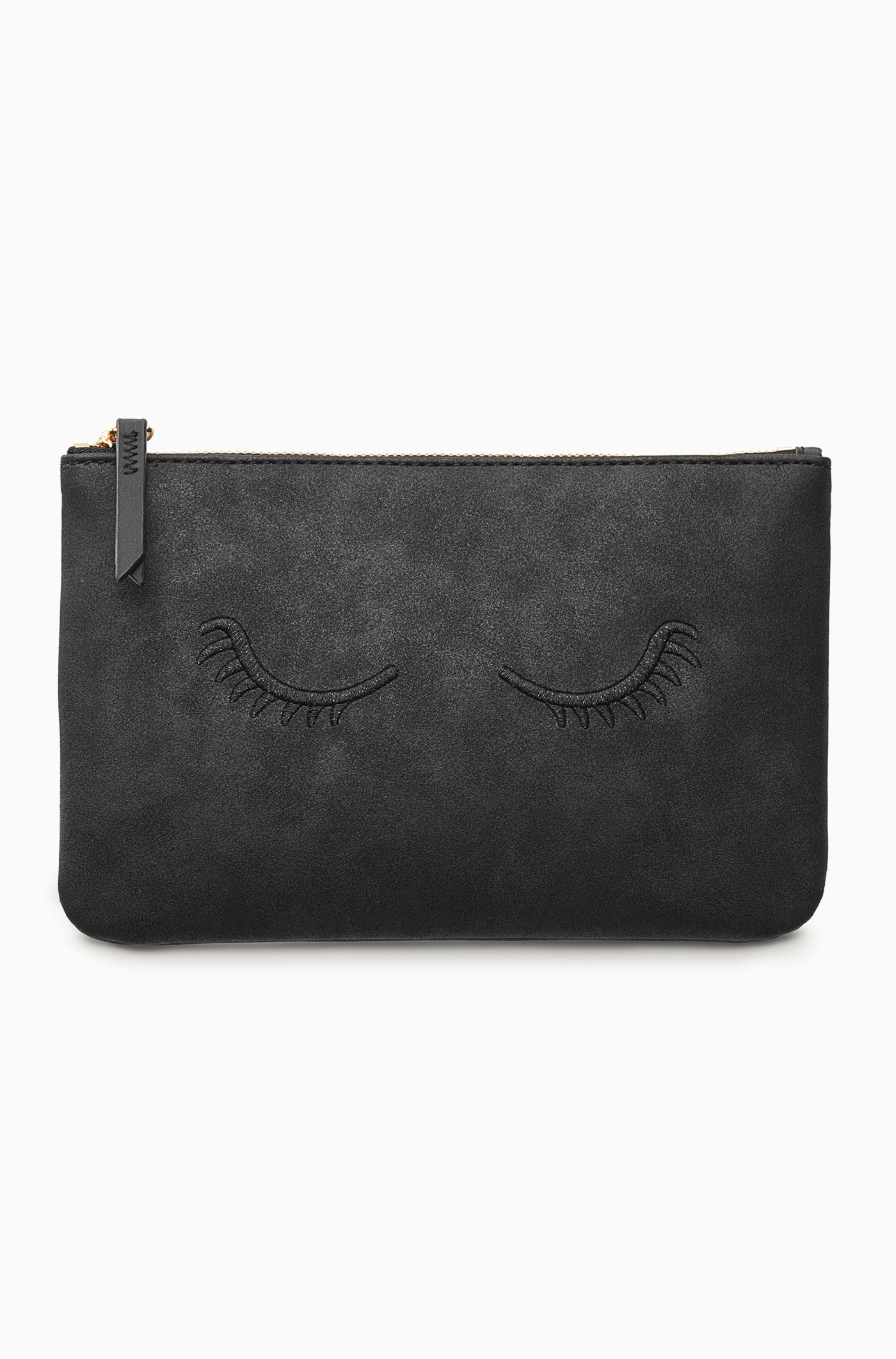 Mini Pouch - Embroidered Lashes