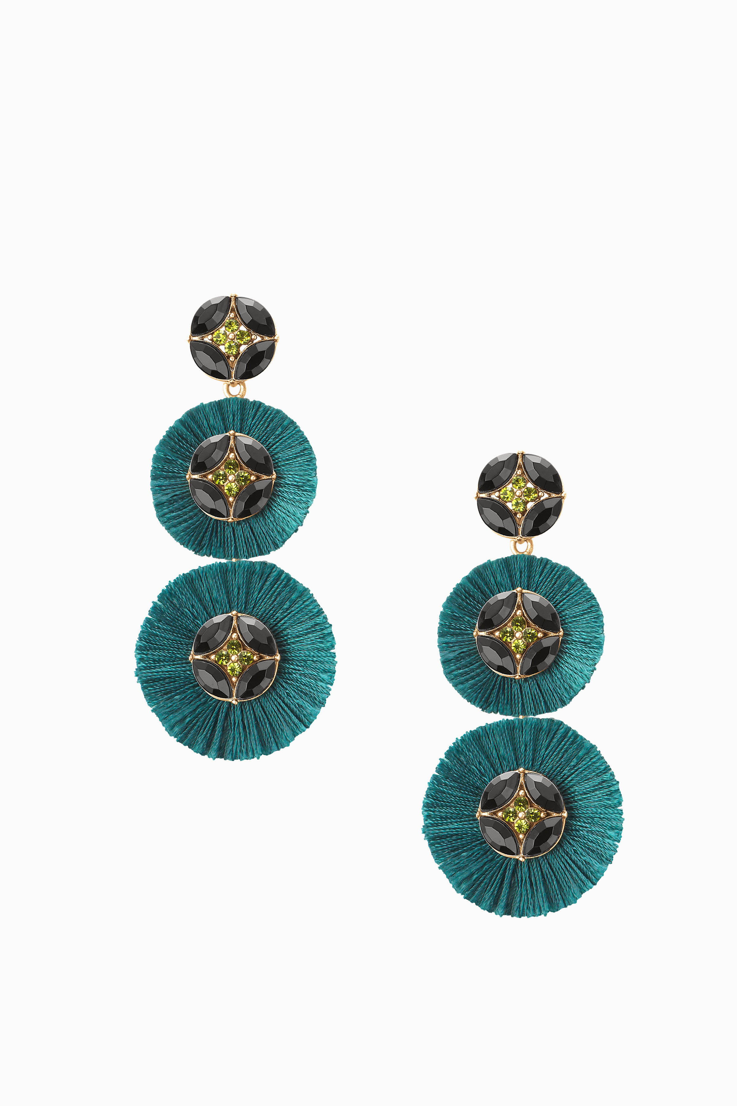 Stud earrings drops chandelier earrings more stella dot gemma fan chandeliers forest green e414gr arubaitofo Image collections