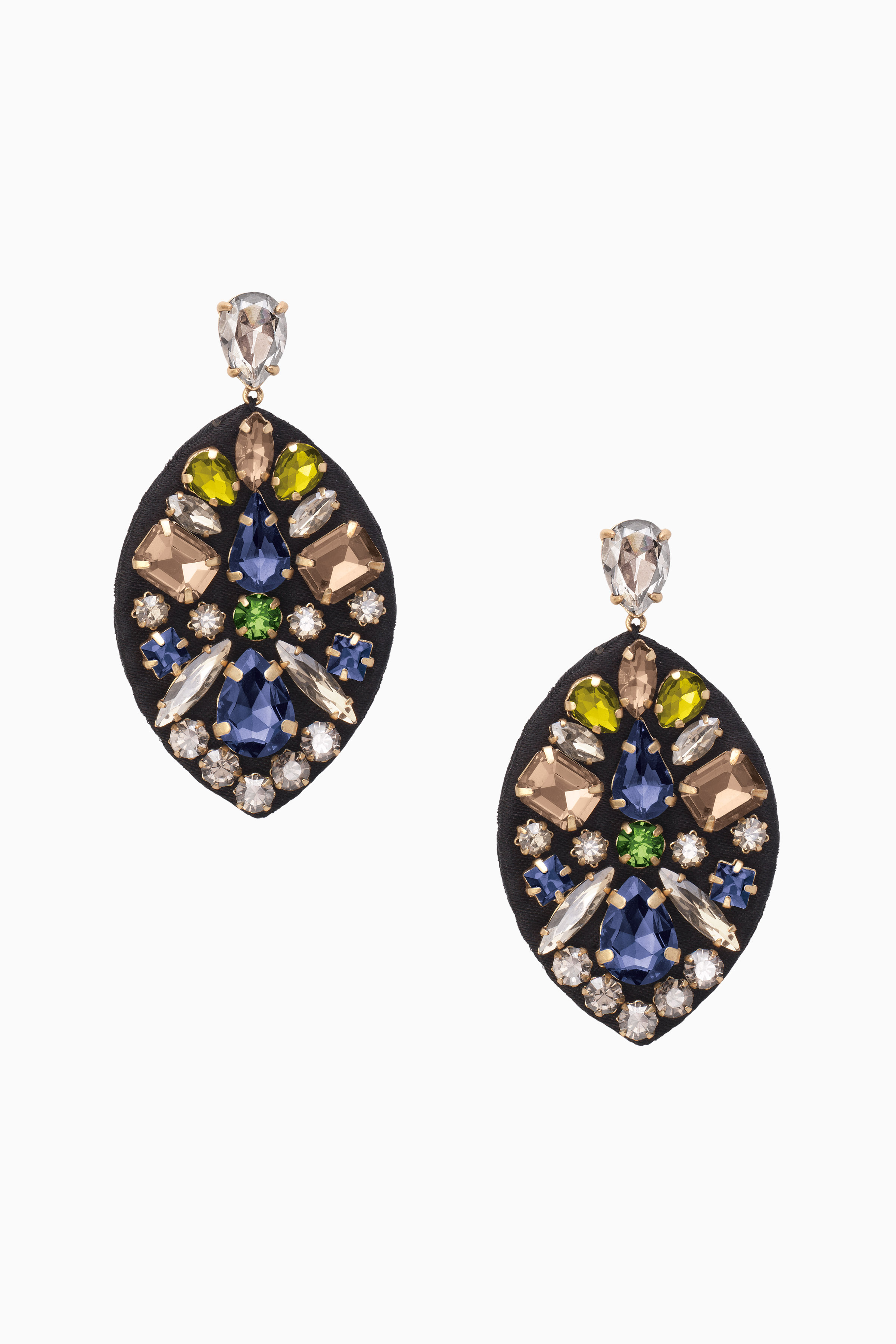 Black feather statement earrings stella dot stella dot morgan jeweled chandeliers e406g arubaitofo Image collections