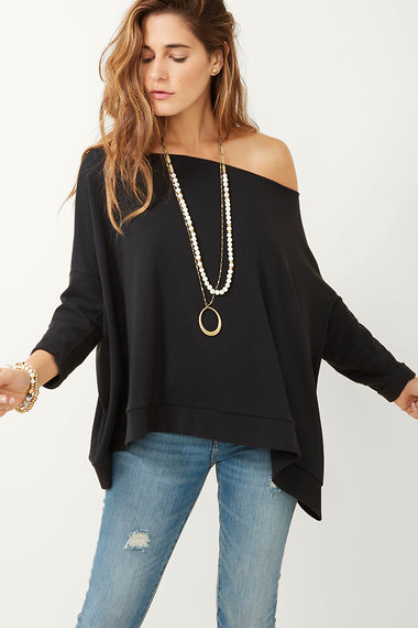 180664e418c Navy Blue Carlie Versatile Poncho Top | Stella and Dot | Stella & Dot