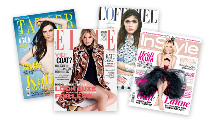 European Fashion Press Stella & Dot has featured in - Tatler, Elle, InStyle, L'officiel