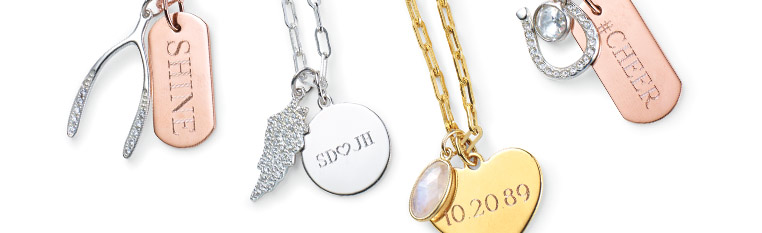 Shop fun jewelry, charms and engravables